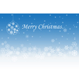 Christmas greeting light and snowflakes vector image vector image
