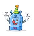 clown pencil sharpener character cartoon vector image vector image