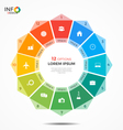 Colorful infographic template with circle chart 12 vector image