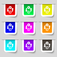 Currency exchange icon sign Set of multicolored vector image vector image