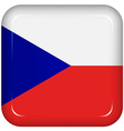 czech republic flag vector image vector image