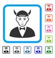 devil framed positive icon vector image vector image