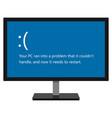 display with error message vector image