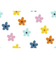 ditsy floral background seamless pattern vector image vector image