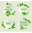 Eco labels with green leaves vector image vector image