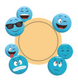 emoticons frame concept vector image vector image