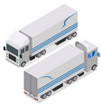 flat design isometric tractor unit truck car vector image