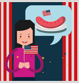 food american independence day vector image vector image