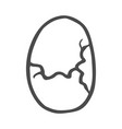 freehand drawn cartoon cracked egg vector image vector image