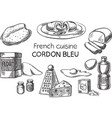 french cuisine vector image vector image
