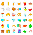 fridge icons set cartoon style vector image vector image