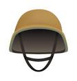 front of desert helmet mockup realistic style vector image