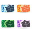 Gift cards set isolated on white background vector image