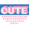 girls doll font pink princess surprise lol funny vector image