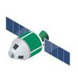 gps satellite flat isometric vector image vector image