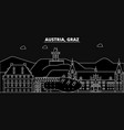 graz silhouette skyline austria - graz vector image