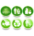 Green stickers set-2 vector image