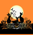halloween poster with castle vector image vector image