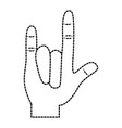 hand in rock n roll sign gesture vector image vector image