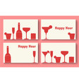 Happy hour business cards set