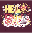 hello tropical summer vector image