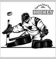 hockey goaltender stock vector image