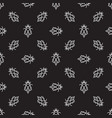 honey bee dark seamless pattern in thin vector image