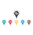 icon bulb with gears light solution vector image