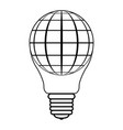 icon logo balloon in form light bulbs and vector image