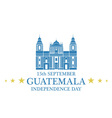 Independence Day Guatemala vector image vector image