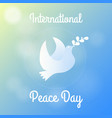 international peace day greeting card poster vector image vector image