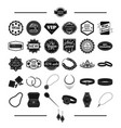 jewelry gold products and other web icon in vector image