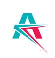 letter a - logo template concept vector image