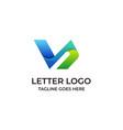letter v design concept template vector image