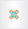 logo xz letter x z icon vector image