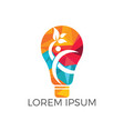 man and light bulb logo design vector image