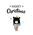 Merry Christmas greeting cards with bear vector image vector image
