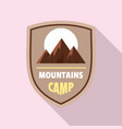 mountains camp logo flat style vector image