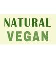 Natural vegan design vector image