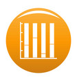 new chart icon orange vector image vector image