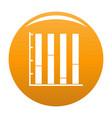 new chart icon orange vector image vector image