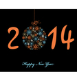 New Year greeting card 2014 vector image