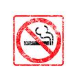 No smoking grunge rubber stamp vector image