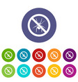no spider sign set icons vector image vector image