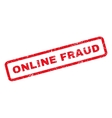 Online Fraud Rubber Stamp vector image vector image