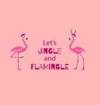 pink christmas greeting card cute christmas vector image vector image
