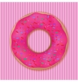 Pink donut vector image