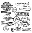 quality control stamps vector image vector image