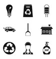 recycling material icon set simple style vector image