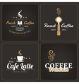 Set of coffee shop badges and labels vector image